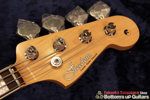 """FREEDOM CUSTOM GUITAR RESEARCH x ボトムズアップギターズ """"Guitar of The Month"""" Jazz Bass (JB) 4弦【Flame 1P Light Ash × Rose FB】"""