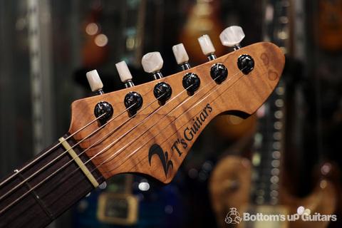 """新製品ニュース / ティーズのベーシックモデル""""DST-Classic""""に、Roasted Flame Mapleをネックに採用した新しいバージョンがデビュー! ボトムズアップギターズ東京本店 ローステッドメイプル"""