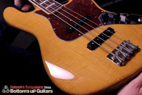"FREEDOM CUSTOM GUITAR RESEARCH x ボトムズアップギターズ ""Guitar of The Month"" Jazz Bass (JB) パッシブ 4弦【Flame 1P Light Ash × Rose FB】"
