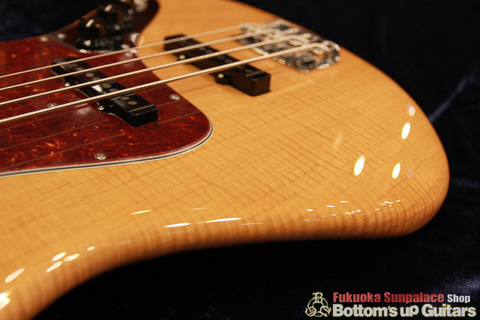 """FREEDOM CUSTOM GUITAR RESEARCH x ボトムズアップギターズ """"Guitar of The Month"""" Jazz Bass (JB) パッシブ 4弦【Flame 1P Light Ash × Rose FB】"""