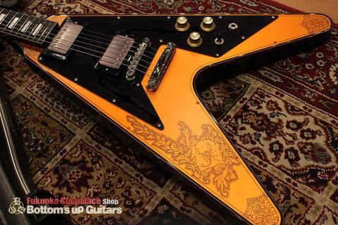 IHush_FV_SASORI_Top.jpg IHush GuitarsのフライングVタイプ 蠍彫金